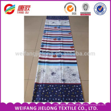 Inventory quality printing for 100% cotton bedding fabric