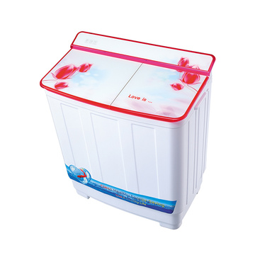 Red Glass Cover Twin Tub 8.5KG Mesin Cuci
