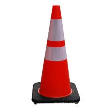Alta calidad 28 '' Black Base PVC Con vectores de tráfico Safety Cones
