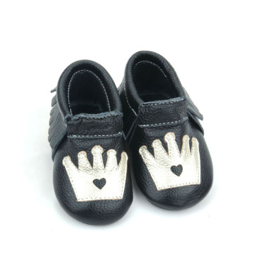 Kulit asli Crown Unisex Baby Moccasins Shoes