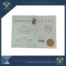Benutzerdefinierte Heißprägefolie Zertifikat