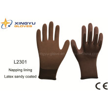 Polyester Shell Napping Lining, Latex Sandy Coated Safety Work Glove (L2301)