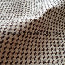 Tejido teñido de hilo de cáñamo con Lurex (QF13-0110)
