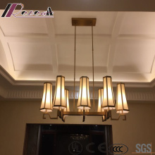 Modern Vintage Hotel Decorative Seven Lights White Glass Chandelier