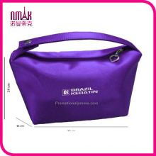 Expandable Holder Sequined Satin Cosmetic Makeup Bag with Inner Pockets Clutch Travel Pouch