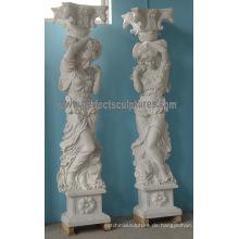 Stein Marmor römische Säule Säule für Dekoration (QCM135)