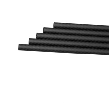 Tubos de fibra de carbono de 3K 600mm livianos y duraderos para piezas de drones