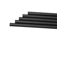 Tubes de fibre de carbone pleins légers et durables de 3K 600mm pour des pièces de drone