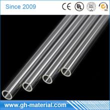 Tuyau rigide de PVC d'épaisseur de 12mm de diamètre de 3mm, tube de PVC clair bon marché