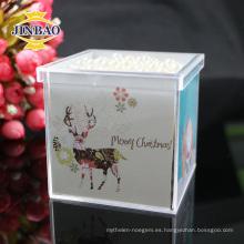 Caja de regalo Crystal Acrylic Candy con tapa