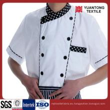 100% algodón 40 * 40 110 * 70 para hacer la ropa del cocinero