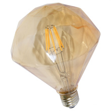 Bulbo plano del filamento del diamante LED de la venta directa de la fábrica con la cubierta del oro