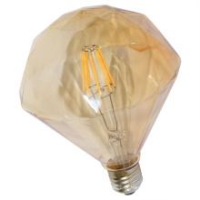 Bulbo liso do filamento do diodo emissor de luz do diamante da venda direta da fábrica com tampa do ouro