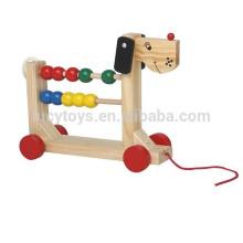 Pull Toy Hölzernes Gegenspielzeug