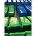 120L HDPE 3.5mm 7.3kgs outdoor mobile plastic wheelie bin storage with wheels and cover