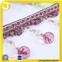 Curtain Accessories of Purple Acrylic Beades Fringe