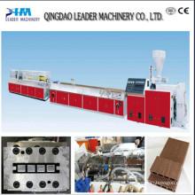 Máquina plástica de madeira da extrusão do perfil / linha de produção plástica de madeira do perfil