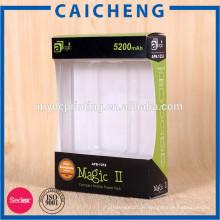 Mobile Power Packaging Paper Fensterbox mit Blistereinsatz