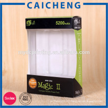 Mobile power packaging paper window box with blister insert