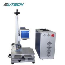 Máquina de marcado láser de fibra de alta velocidad para acero.