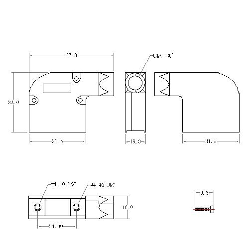 DBZER-09XX1 1 D-SUB MEATL HOODS,09P,Right angle, ETHERNET TYPE