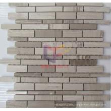Strip Gery Wood Marble Mosaic (CFS953)