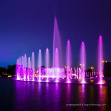 fontaine à musique avec lumières led