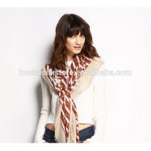 Обычный однобортный печатный шарф из чистого хиджаба