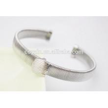 Stahldrahtmanschettenarmbänder silberdünne Drahtarmbänder