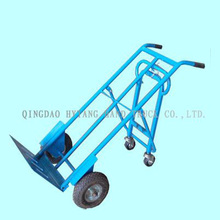 "250kgs carga pesada mano trolley.10x3.5 ""rueda de aire, con dos-wh"
