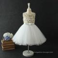 wholesale children's boutique clothing flower net girls child white angel dress