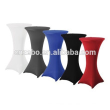 wholesale elegant new design white and black spandex cocktail bistro table cover table linens for sale