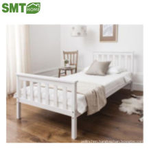wood bed solid pine+MDF single bed simple modern cheap for sale