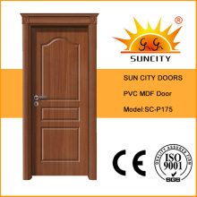 Moderne Design Hölzerne Krone PVC Tür, MDF Board Tür (SC-P175)