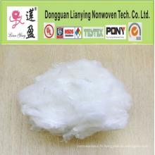Remplissage de polyester à fibre conjuguée creuse recyclée et bon marché