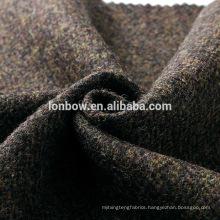 2018 100% wool tweed jacket fabric brown herringbone quality
