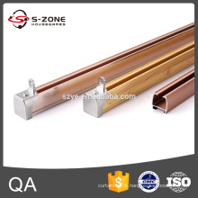 Golden plastic runner curtain track made in China
