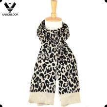 Mulheres Inverno Acrílico Lã Blended Jacquard Leopard Scarf