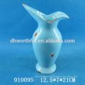 Vaso de flor de cerámica de diseño clásico, florero decorativo de alta calidad
