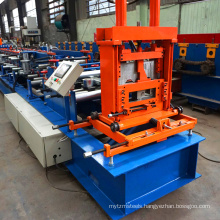 Automaticaly c strut channel purlin flying saw metal stud cold steel c shaped profile roll forming machine with track cutting