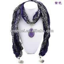 pendant scarf,jewelry scarf,scarf wholesaler jewelry