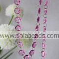 Cool 7 * 18 * 18 MM Crystal Ring Beading String Garland