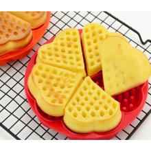 Molde No-Tóxico vendedor caliente de la galleta del molde de la torta del silicón de la forma del corazón