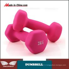 Haltères à revêtement en vinyle New Equipment Fitness