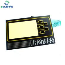 Large window size PET circuit membrane switch
