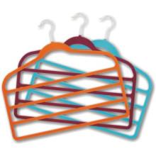 Hot Stemped Logo Velvet Silk Towel Hanger Cheap Plastic Hanger