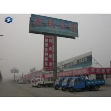 Dos lados de la autopista de publicidad