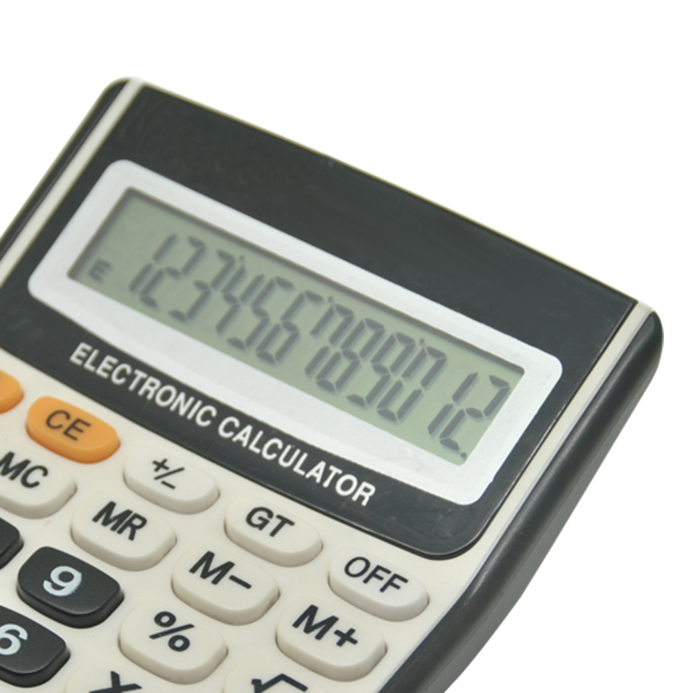 12 Digit Table Big Button Desktop Calculator