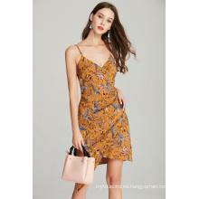 vestido de verano estampado para mujer con correa de moda para mujer