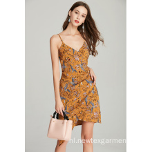 fashion band dames dames zomerjurk met print